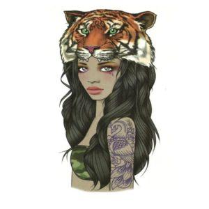 Tatuagem Temporária Garota Tigre