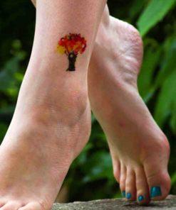 tatuagem temporária árvore
