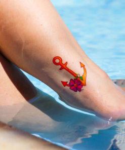 tatuagem temporária âncora