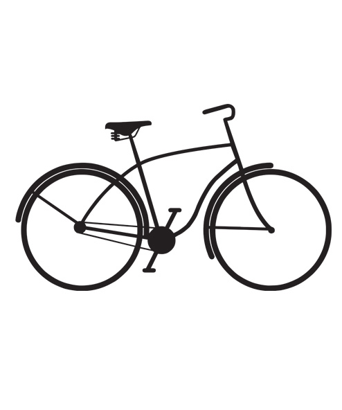 tatuagem temporária bicicleta