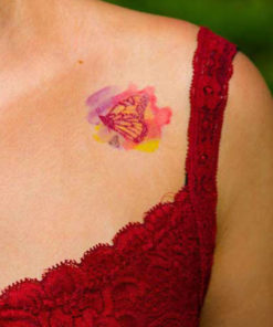 tatuagem temporária borboleta