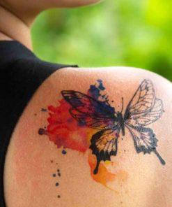 tatuagem temporária aquarela