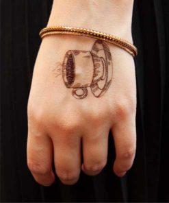 tatuagem temporária café