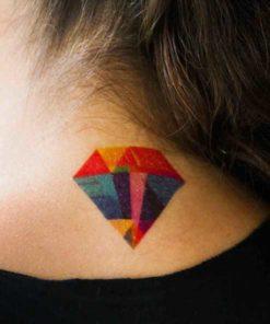 tatuagem temporária diamante