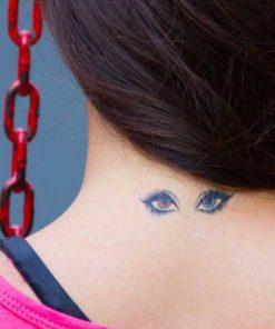tatuagem temporária olhos