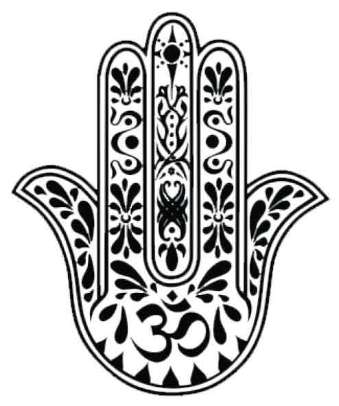 tatuagem temporária mão de fátima