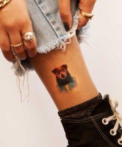 tatuagem temporária cachorro