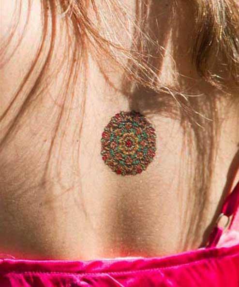 tatuagem temporária mandala