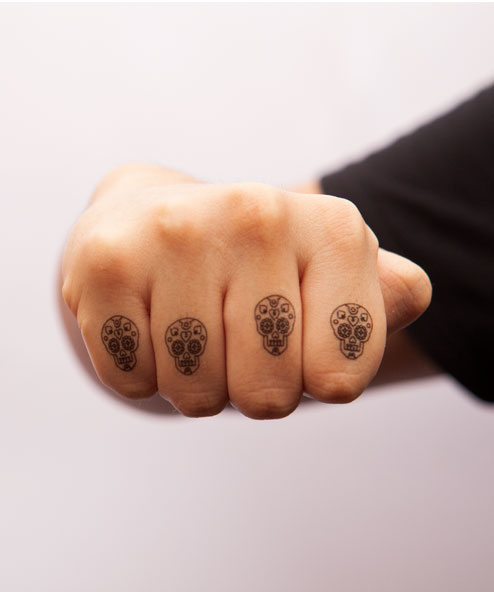 tatuagem temporária para dedos