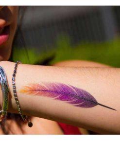 tatuagem temporária pena