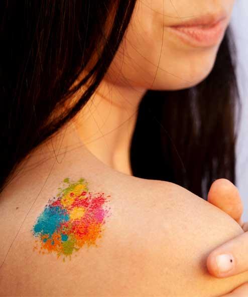 tatuagem temporária carnaval