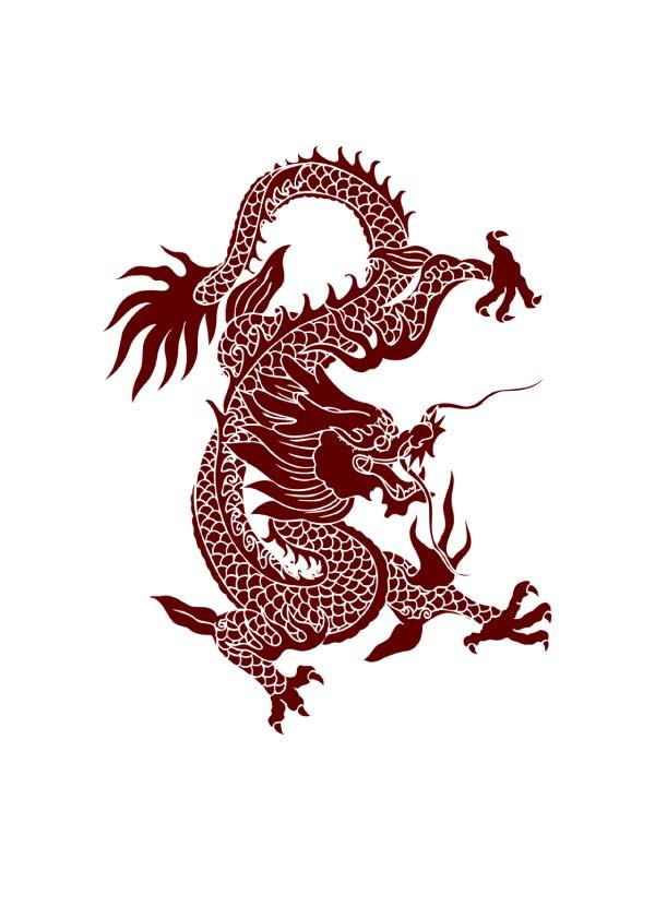 tatuagem-temporaria-dragão-chinês