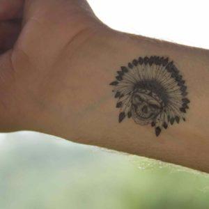 tatuagem-temporária-indio-caveira