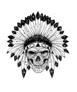tatuagem-temporária-caveira-indigena