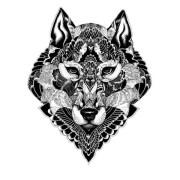 tatuagem-temporaria-lobo