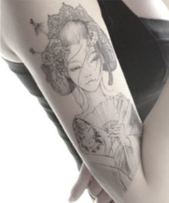 tatuagem temporária oriental