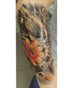 tatuagem temporária carpa