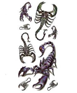 tatuagem temporária escorpião