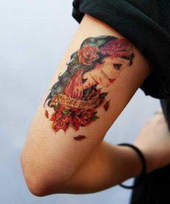 tatuagem temporária mexicana