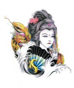 tatuagem temporaria oriental