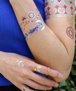 tatuagem temporária metálica