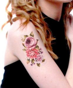 tatuagem temporária flor