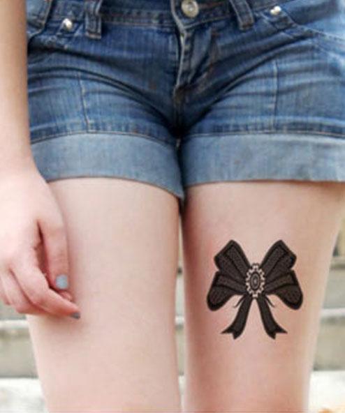 tatuagem temporária coxa