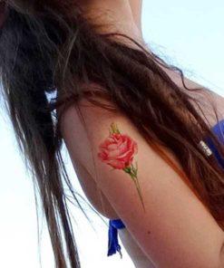 tatuagem temporária rosa