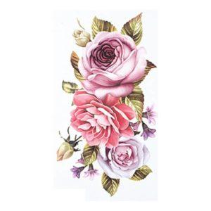 tatuagem temporaria arranjo de flores