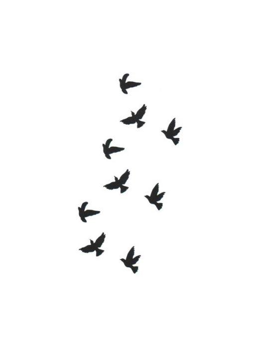 tatuagem temporaria pássaros voando