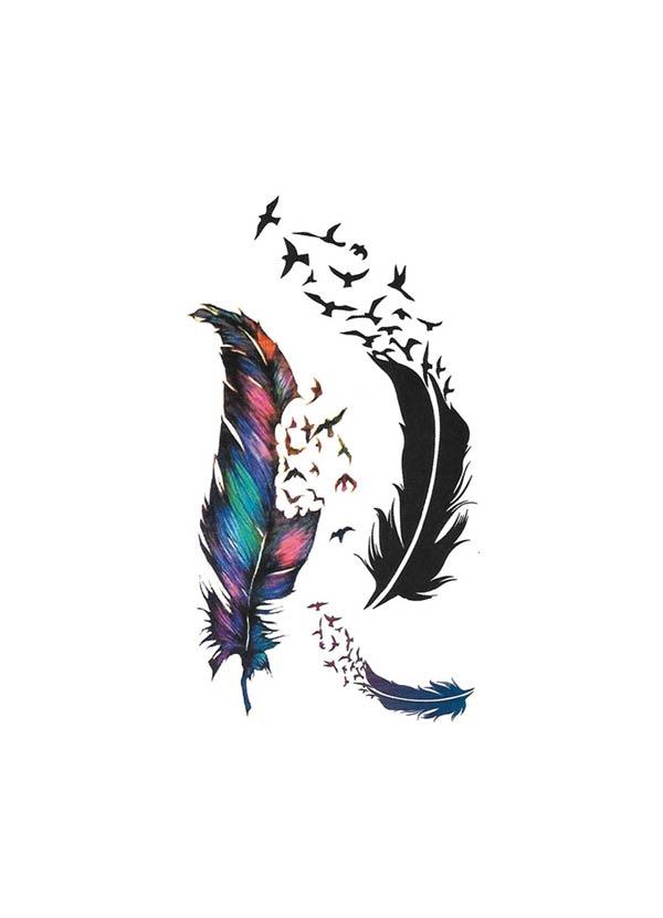 tatuagem temporaria penas