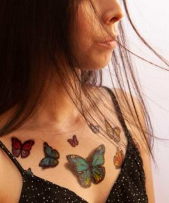 tatuagem temporária borboletas