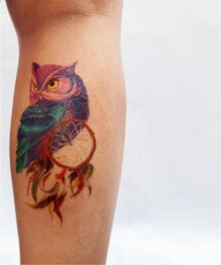 tatuagem temporaria coruja