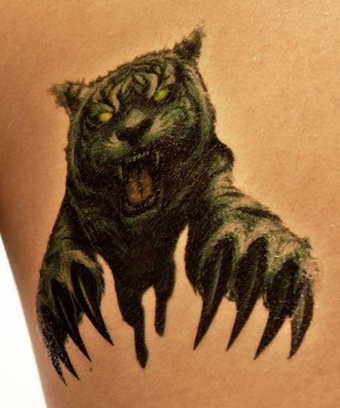 tatuagem temporária tigre