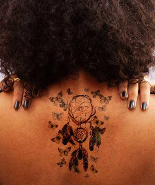 tatuagem temporaria filtro dos sonhos