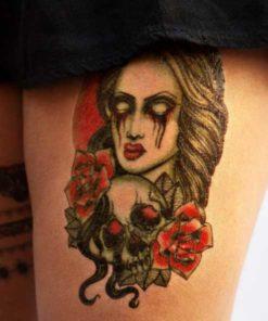 tatuagem temporaria halloween