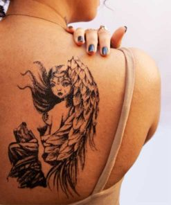 tatuagem temporaria harpia