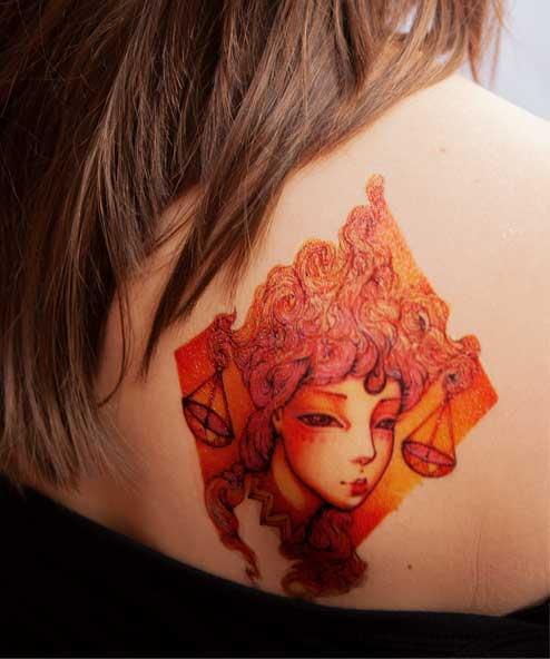 tatuagem temporaria libra