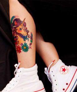 tatuagem temporária unicórnio